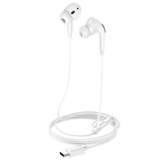 HOCO M1 PRO ORIGINAL SERIES EARPHONES FOR TYPE-C ΑΣΠΡΟ