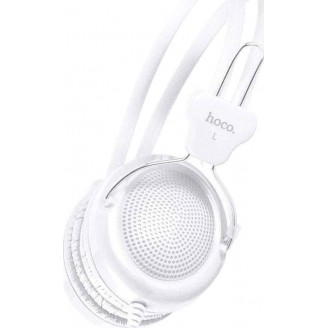 HOCO W5 MANNO HEADPHONE WITH MIC, WHITE