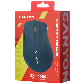 Canyon Wired Optical Mouse Blue - CNE-CMS05BL