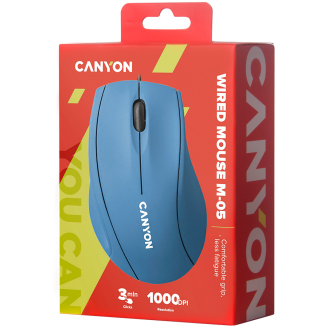 Canyon Wired Optical Mouse Light Blue - CNE-CMS05BX