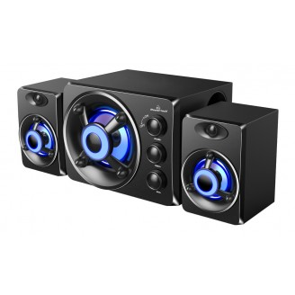 POWERTECH ηχεία Crystal sound PT-841, 2.1, 5W + 2x 3W, 3.5mm, μαύρα